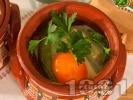 Рецепта Сирене по шопски в глинено гювече на фурна (класическо)